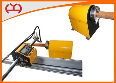 China Pipe Diameter 50 - 150 Mm CNC Pipe Plasma Cutting Machine With Cutting Table supplier