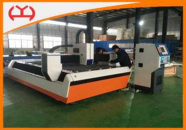 China Metal Sheet Fiber Laser CNC Cutting Machine 500 Watt With Two Years Warranty supplier